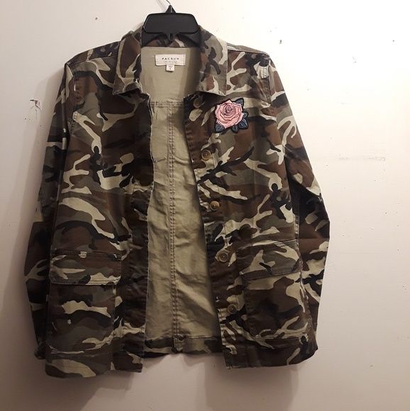 44f423bfd9de5 PacSun Jackets & Coats | Womens Camo Fashion Jacket | Poshmark